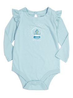 童話印花小飛袖長袖連體衣 - 上裝 - 嬰兒(0-24個月) - 女嬰 - Gap香港官網