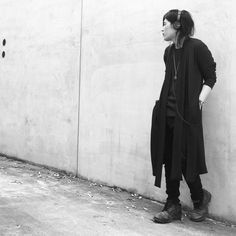 OOTD - Washi Long Cardigan / Washi Stripe Border T-shirt/ Irregular Cut Stretch Slim  Denim Black Pants - zero #zero #zerointernational #washi #blackfashion #darkfashion #black #japan #madeinjapan #大阪 #ファッション #メンズファッション #和紙 #unisex #ユニセックス #ootd #traditional #japanesepaper #osaka  #ss #hoodie# #ゼロ #guidi #iolom #denim #devoa #cardigan #tshirt @zero___international