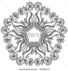 Find Circular Pattern Form Mandala Henna Mehndi stock images in HD and millions of other royalty-free stock photos, illustrations and vectors in the Shutterstock collection. Mandala Coloring, Colouring Pages, Printable Coloring Pages, Adult Coloring Pages, Coloring Books, Trippy Drawings, Mehndi Style, Circular Pattern, Mandala Drawing