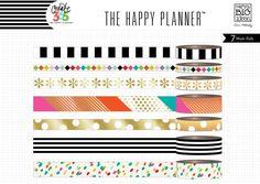 Bright Washi Tape Set (7 rolls) Me & My Big Ideas® Create 365 Happy Planner