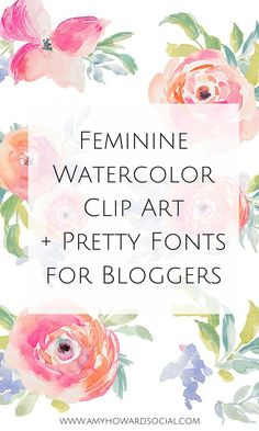 Love watercolor clip art, pretty fonts, and premade logos? Take a look at my…