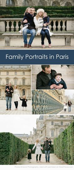 Beautiful Family Photo Session in Paris by Savor Photography via iHeartFaces.com