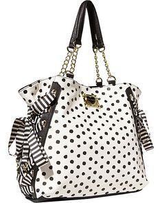 3e5e13baa MIX AND MATCH TOTE BLACK POLKA DOT accessories handbags day totes  #pursesandhandbags Besty Johnson Purses