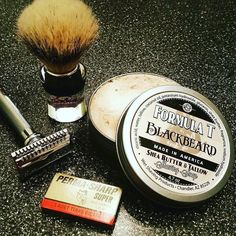 #Repost @junkfoodzombie  New stuff! Second shave with the Merkur 39c. First time using a Perma-Sharp blade. First time using my Semogue 620 and first time using the @wetshavingproducts #blackbeard shave soap. Firstly the soap is AWESOME. Very slick and the scent is so badass. Very aptly named. The Perma-Sharp  blade was ANOTHER @nickshaves recommendation and it was outstanding. BBS in just two passes and a clean-up. The Semogue 620 was great. Good compact size and incredible backbone. Just…