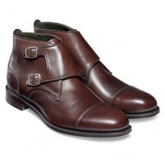 54f4e15f6fe Freeman Burnished Double Buckle Boot in Mocha Calf Leather Mens Ankle Boots