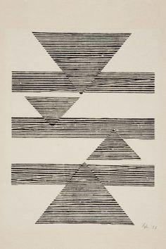 "vjeranski: ""Lygia Pape Sem título: Tecelar (Untitled: Weaving) 1956 Woodcut on Japanese paper 35 x cm "" Textures Patterns, Print Patterns, Painting & Drawing, Eduardo E Monica, Women Artist, Quilt Modernen, Design Art, Graphic Design, Geometric Art"