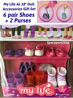 My Life As 18 Doll ACCESSORIES SET Shoes+Purse American Girl Our Generation Lot