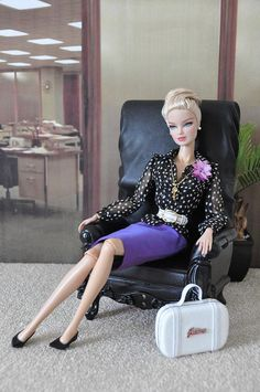 OOAK outfit 'Lady Boss' for Silkstone and FR dolls