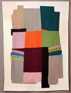 Soundscape by Marita Lappalainen Finland place European Quilt Triennial 2012 Textile Texture, Textile Art, Textile Design, Gees Bend Quilts, Creation Art, Quilt Modernen, Patchwork Quilting, Art Quilting, Fiber Art Quilts