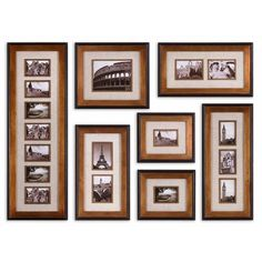 Newark Photo Collage, Set of Seven.   Love the look of photo collage walls, but just don't know how to get started? Make it easy on yourself, this seven frame collection does the work for you.