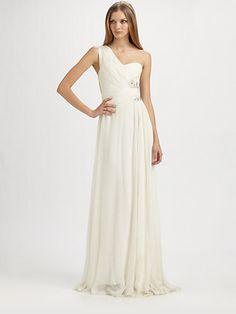 Notte by Marchesa - Asymmetrical Silk Gown - Saks.com