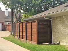 Pre-sealed horizontal side by side cedar fence with cap and rot board. Installed by Titan Fence & Supply Company. Building A Fence, Horizontal Fence, Cedar Fence, Shed, Cap, Outdoor Structures, Board, Outdoor Decor, Home
