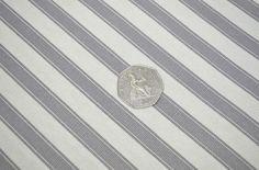 PM Wild Dove Grey & Vanilla Ticking Stripe 100% Cotton Curtain Upholstery Fabric | eBay