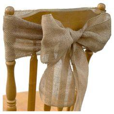 Diy Crafts Ideas : Easy DIY Burlap Chair Sash