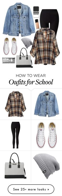 """""""School-"""" by dechhale-1 on Polyvore featuring Y/Project, Miss Selfridge, Bobeau, Converse, Nine West, The North Face, Maybelline and Boohoo"""