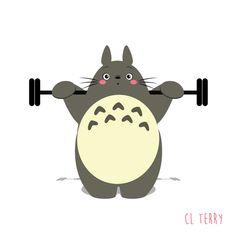 Day 62. Totoro squats.