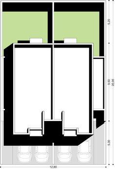 Conjunto de dos dúplex de 89,2m2 cuadrados cada uno, juntos suman 185m2 cubiertos sin incluir cochera y aleros. Cada dúplex …