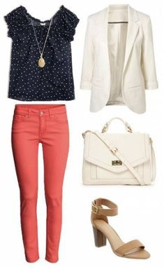 Heels And Jeans Outfit Casual Colored Pants 66 Trendy Ideas Summer Work Outfits, Casual Work Outfits, Business Casual Outfits, Mode Outfits, Office Outfits, Work Attire, Skirt Outfits, Fashion Outfits, Womens Fashion