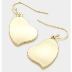 Heart Shaped Earrings ($6) ❤ liked on Polyvore featuring jewelry, earrings, heart jewellery, earring jewelry, heart jewelry, heart shaped earrings and heart earrings