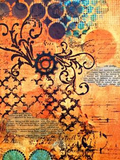 mixed media canvas collage by Marjie Kemper
