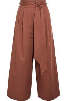 Brick cotton-poplin Concealed zip fastening along back 100% cotton Dry clean Designer color: Dark Ginger