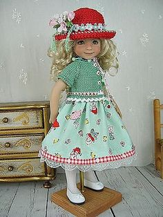 Cat-Dress-Knit-Hat-for-Dianna-Effner-Little-Darling-13-made-by-Ulla. Ends 3/25/15. SOLD BIN $142.00 on 3/21/15.