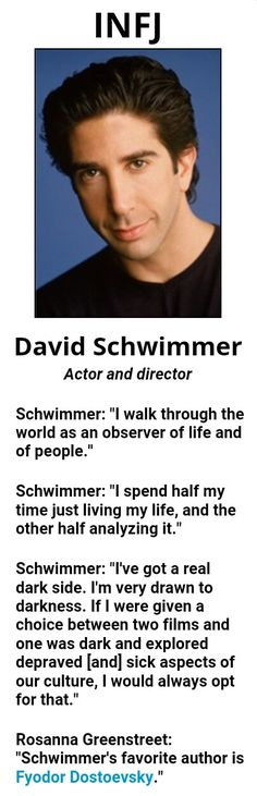 Famous INFJ, David Schwimmer