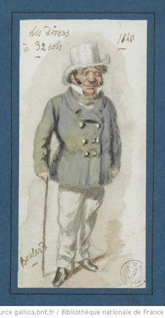 [Les dîners à trente-deux sous, vaudeville de Cogniard, Lubize, Rimbaut : portrait de Lhéritier (Boulard) / par Lhéritier] - 1