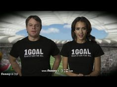 "1Goal PSA Gone Wrong w/ Jessica Alba, Matt Damon, Shakira, John Legend & Queen Rania — ""Imagine this with music. It would be so much better...."""