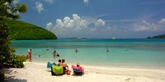St John Trunk Bay Beach & Snorkel Trails in St. Thomas, Usvi