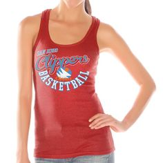 LA Clippers Women's Preseason Ribbed Tank Top – Red