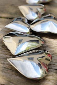 Metalen hartjes
