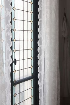 Parisienne Chic, Parquet Chevrons, Trumeau, Hello Hello, Style Retro, Blog Deco, Stained Glass, Windows, Curtains