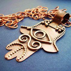 hand made copper hamsa hand and eye✖️ Hamsa ✖️FOSTERGINGER AT PINTEREST ✖️ 感謝 / 谢谢 / Teşekkürler / благодаря / BEDANKT / VIELEN DANK / GRACIAS / THANKS : TO MY 10,000 FOLLOWERS✖️