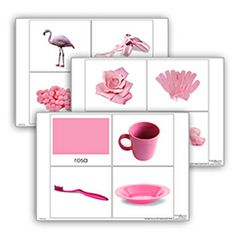 Livro de cor: rosa. Cada livro de cor inclui: 1carta com titulo 10 imagens