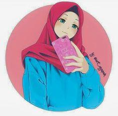 Hijabi Girl, Girl Hijab, Hijab Dp, Hijab Chic, Cartoon Girl Drawing, Girl Cartoon, Hijab Drawing, Islamic Cartoon, Anime Muslim