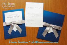Place Cards, Gift Wrapping, Place Card Holders, Invitations, Happy, Gifts, Fiestas, Elegant Invitations, Weddings