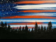 Step by step painting for beginners - Acrylic Canvas Tutorials American Flag Painting, American Flag Art, American Barn, Acrilic Paintings, Simple Acrylic Paintings, Easy Paintings, Diy Canvas Art, Acrylic Painting Canvas, Canvas Paintings