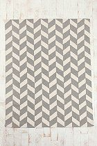 I saw someone who DIY'd one of these rugs by painting a plain one 5x7 Herringbone Rug  #UrbanOutfitters