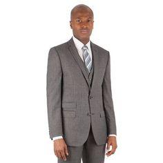 BEN SHERMAN Grey jaspe check 2 button front slim fit kings suit jacket | Debenhams