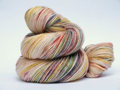 Hand Dyed Fingering/Sock Sparkle Yarn, Superwash Merino/Nylon/Stellina, Yellow Squirt