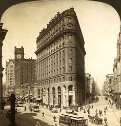 """zippalu: """" Bustling, Market and Posts Streets, before and after the great San Francisco earthquake and fire of stereographs """" San Francisco Vacation, Sans Art, San Francisco Earthquake, Street Look, City Buildings, Vintage Photography, Fine Art America, Cities, Pictures"""