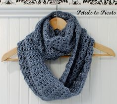 """I've seen this pattern as the """"Van Ness Scarf"""" on Ravelry, but I can NEVER connect the circles .. maybe more info will help because it LOOKS really easy once you get going and the stich definition will really show off some fancy fiber!"""