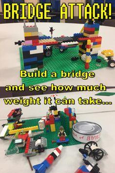 Lego Activities, Craft Activities For Kids, Summer Activities, Lego Games, Activity Ideas, Craft Ideas, Science Fair Projects, Lego Projects, Lego Bridge