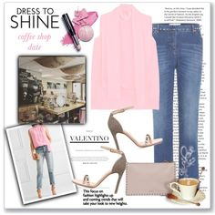 Dress to Shine: coffee shop date by fashionlibra84 on Polyvore featuring Valentino