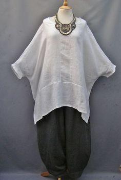 Ella Moda~ WHITE~ Versatile ~Linen OVERSIZED Top ~10-26   eBay