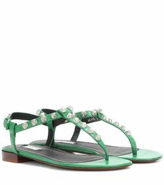 Classic studded leather sandals | Balenciaga