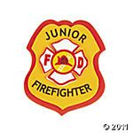 Fireman badge craft from oriental trading