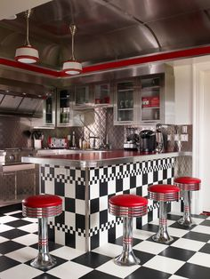 Retro kitchens are soooo fun!  Here are 20 ideas to drool over!  #kitchens #retro