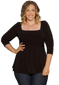 5b54a48ecb20e Fashion Bug Plus Size Tops - Charlotte Tie Top 1X Black www.fashionbug.us
